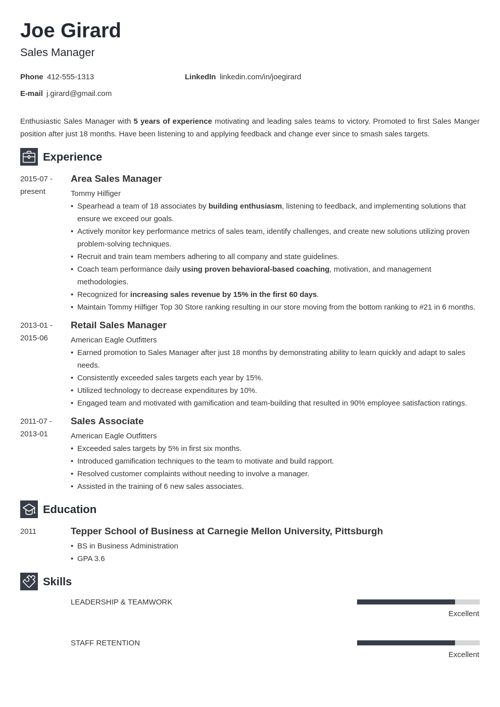 sales manager resume example template newcast