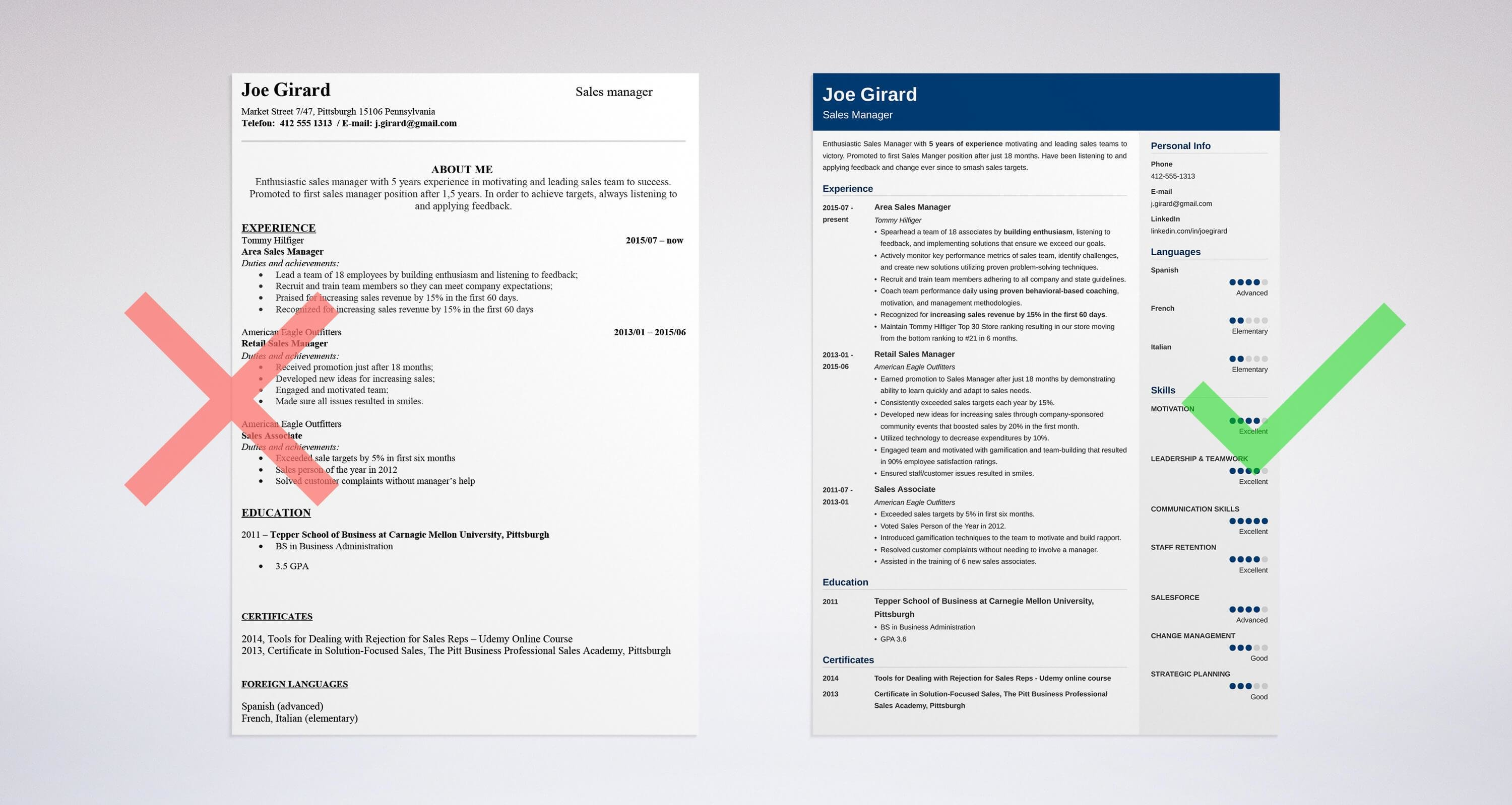High Quality Sales Manager Resume: Sample U0026 Complete Guide [+20 Examples]