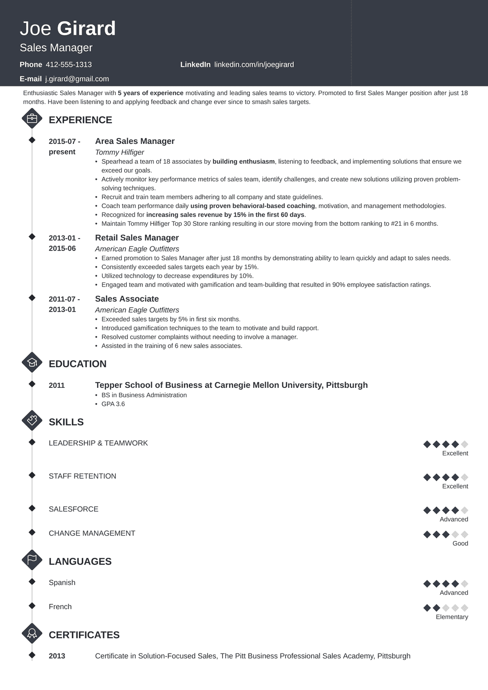 Sales Manager Resume: Sample & Complete Guide [+20 Examples]
