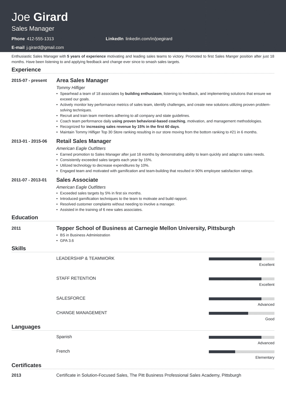 Sales Manager Resume: Example & Complete Guide [20+ Examples]
