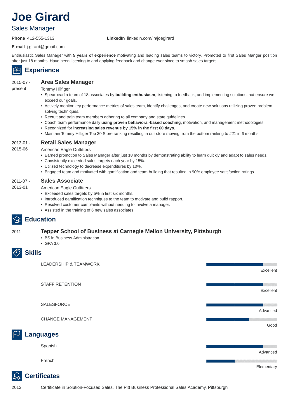 Sales Manager Resume Sample Complete Guide 20 Examples