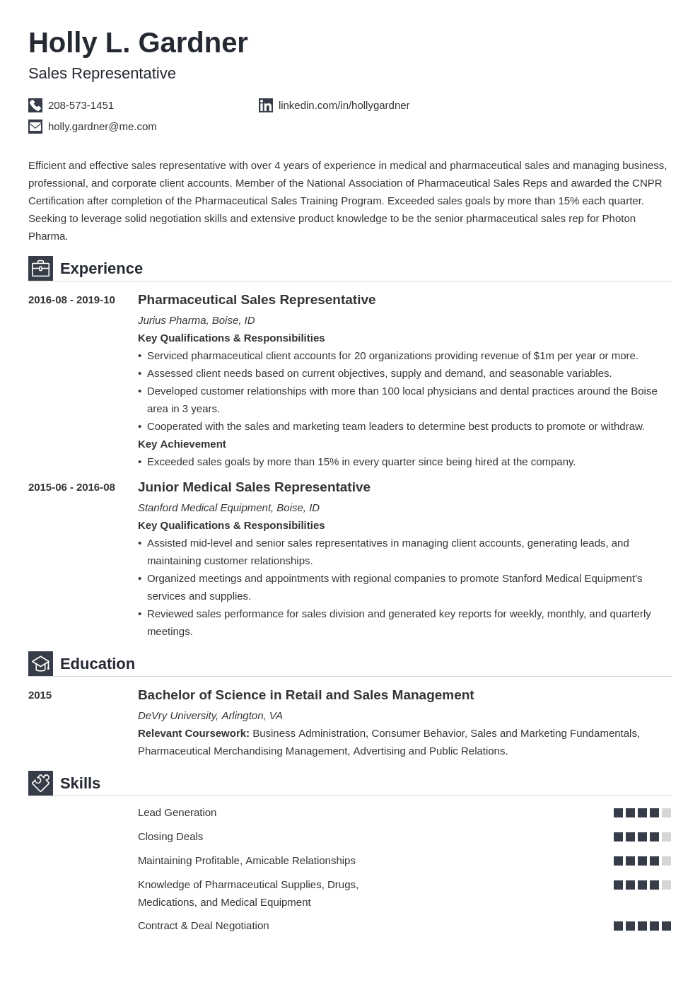 Cv Format For Sales And Marketing from cdn-images.zety.com
