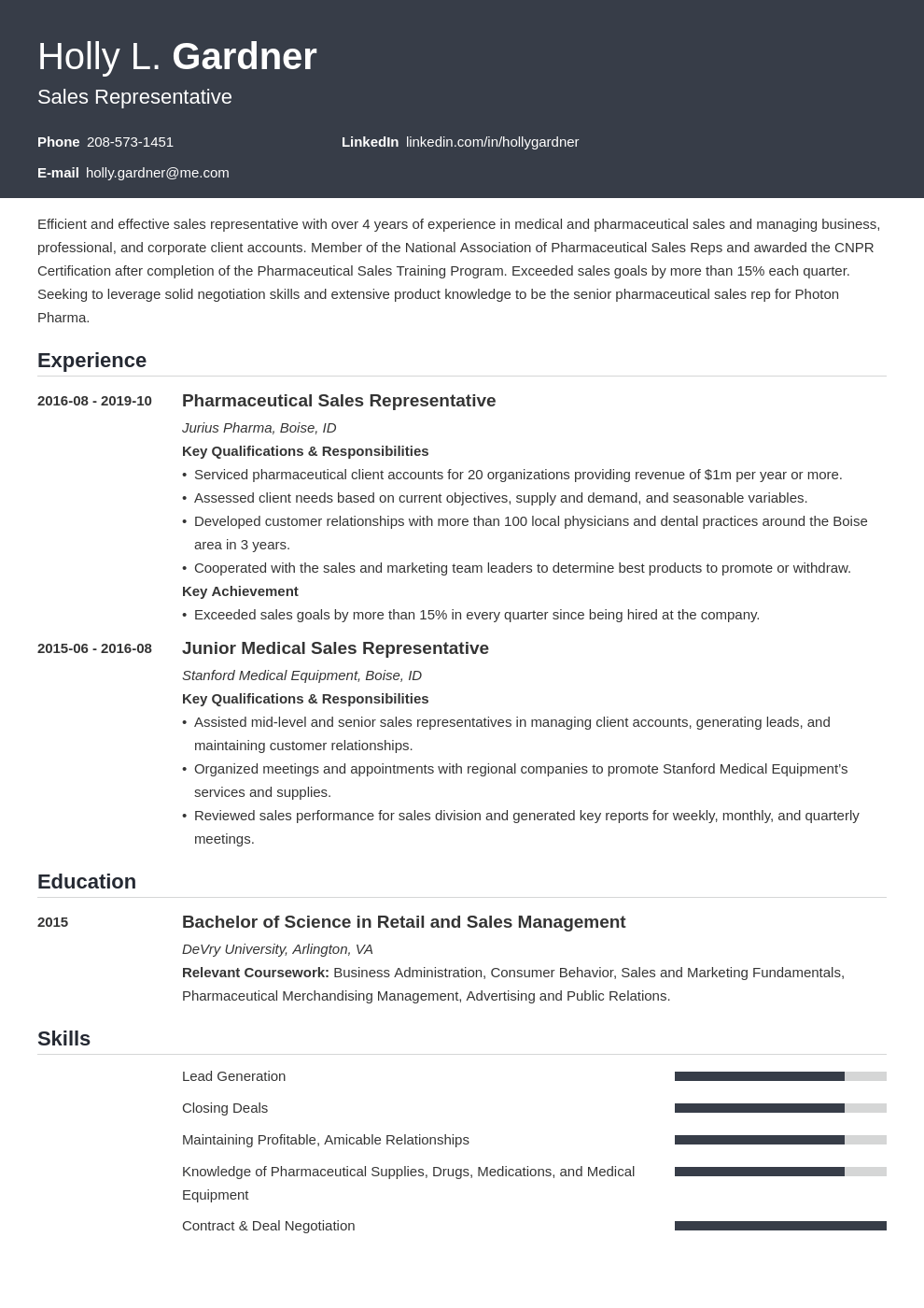 sales representative resume example template influx