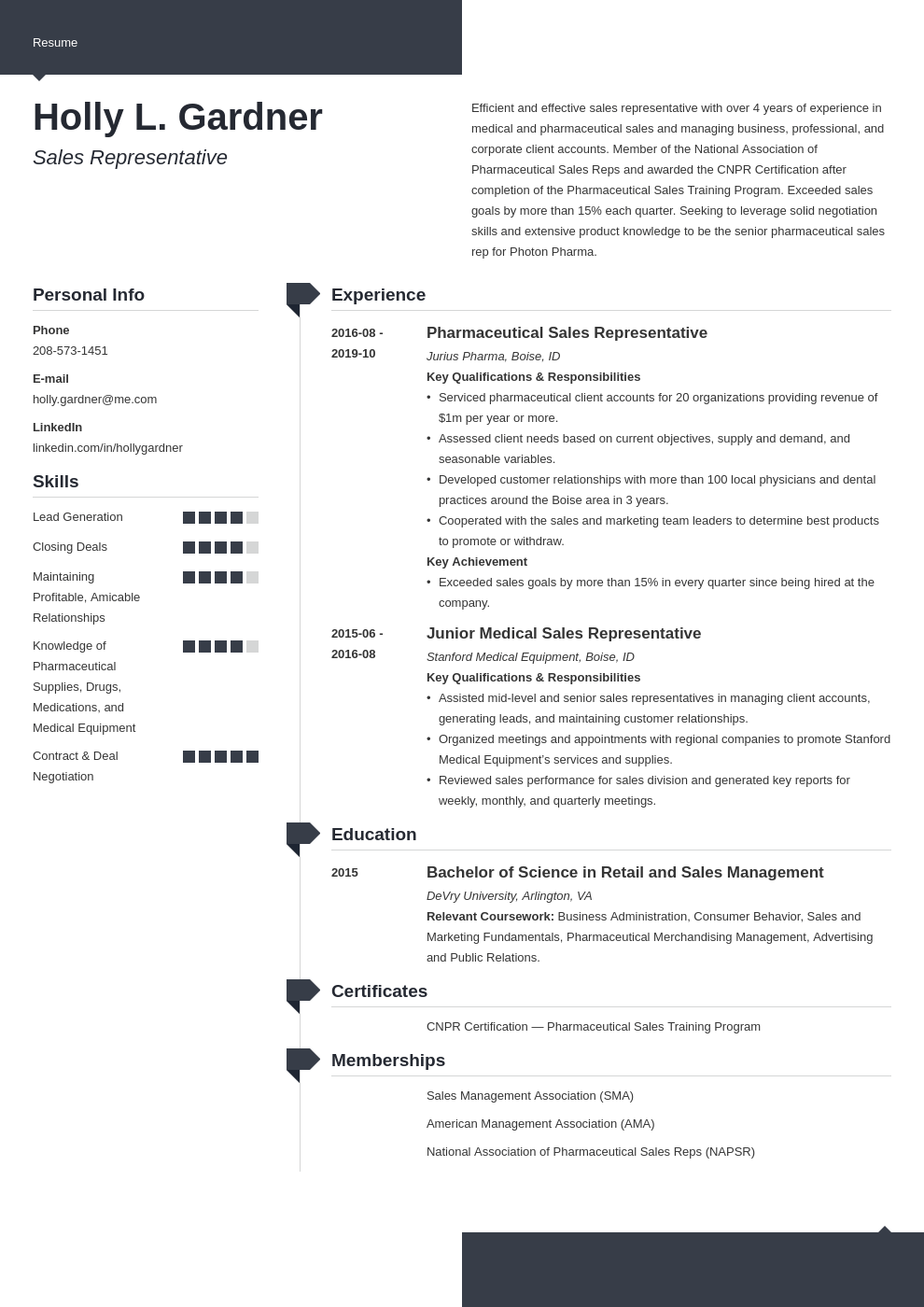 sales representative resume example template modern
