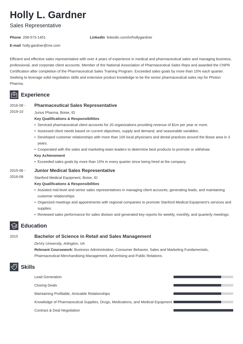 sales representative resume example template newcast