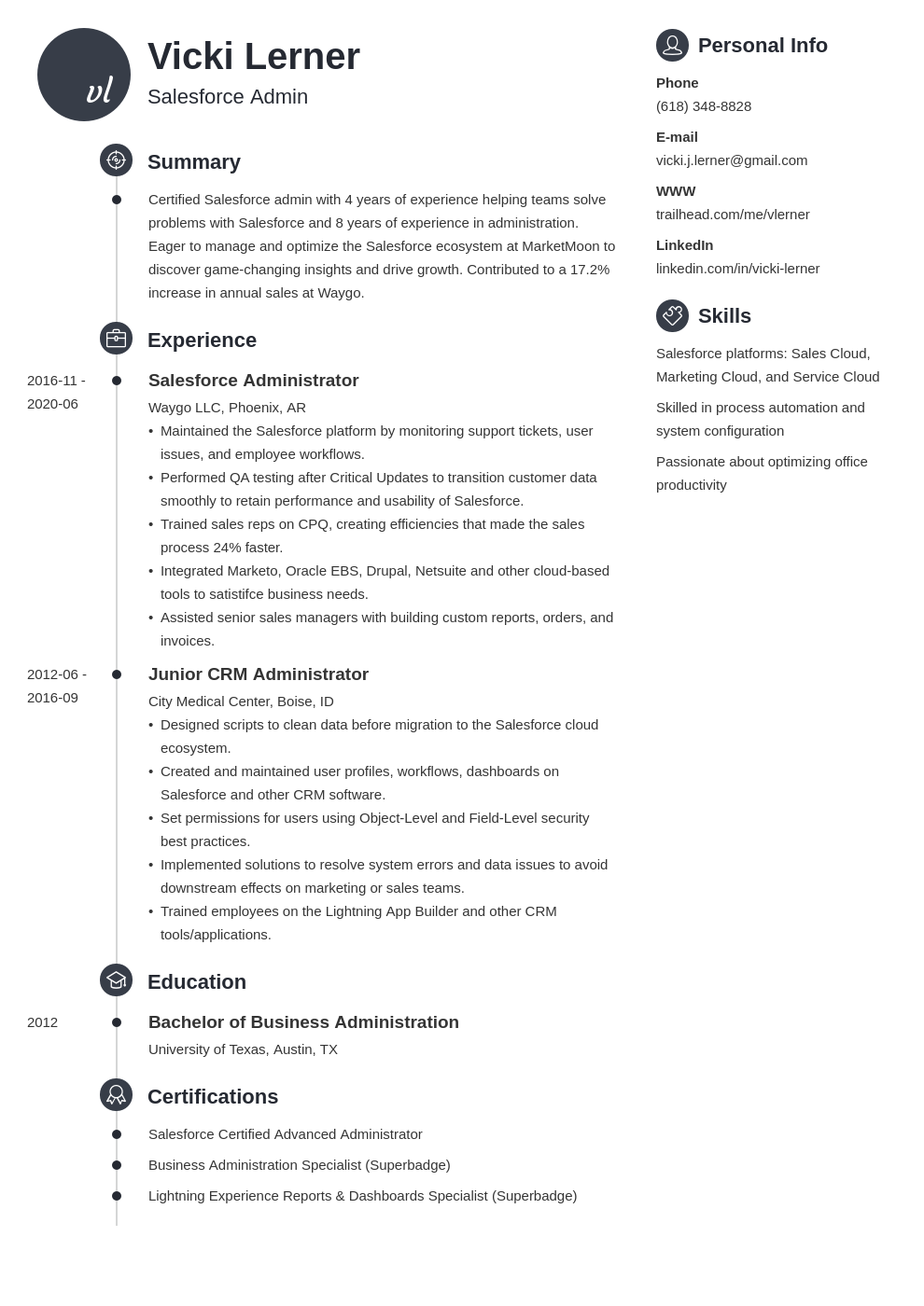 salesforce admin resume sample and guide 20 tips