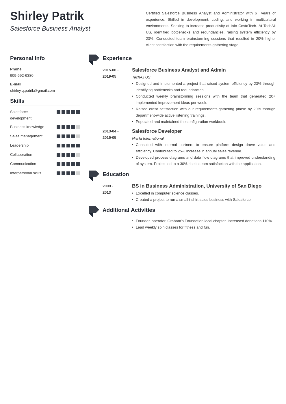 salesforce resume example template muse