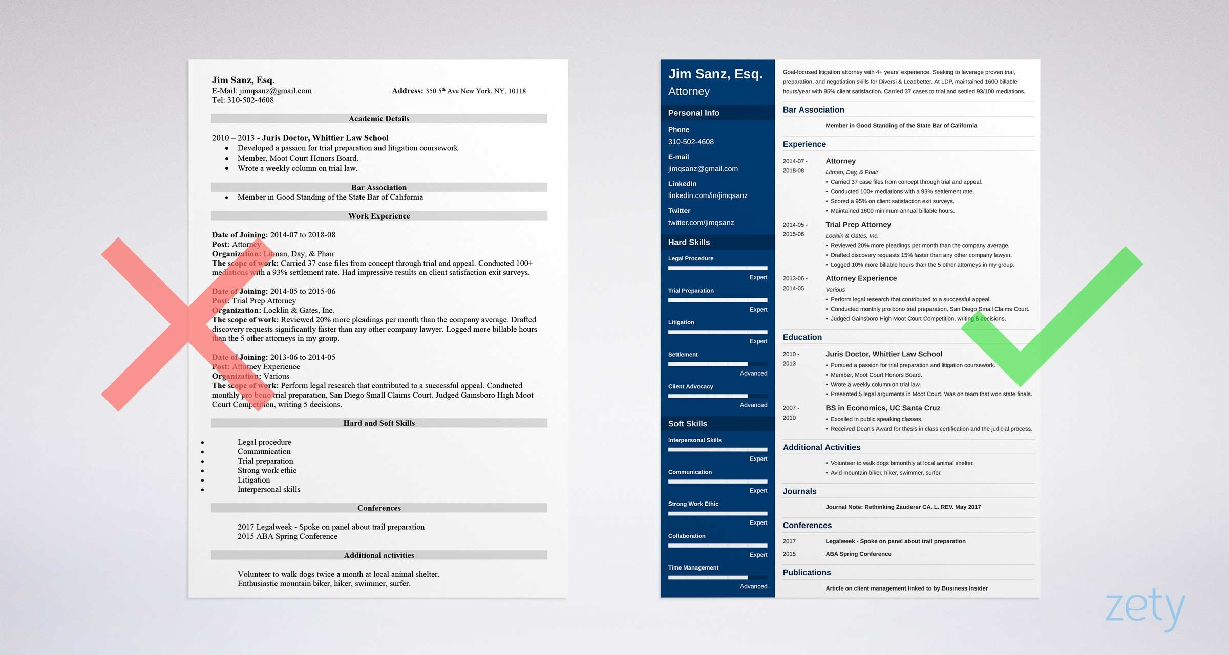 Attorney Resume Sample And Complete Guide 20 Examples