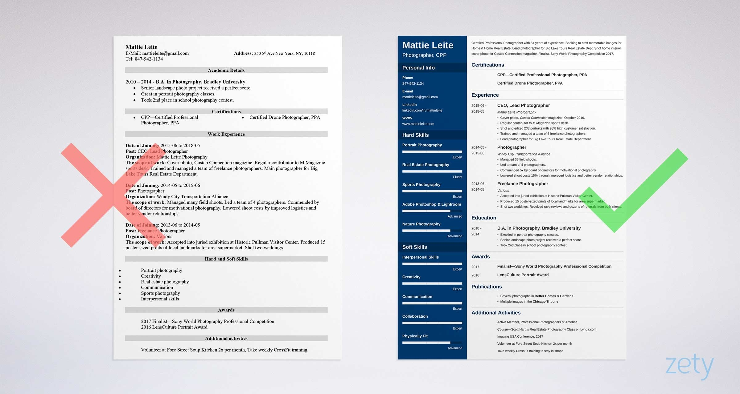 Photographer Resume: Sample and Full Writing Guide [20+ Examples]