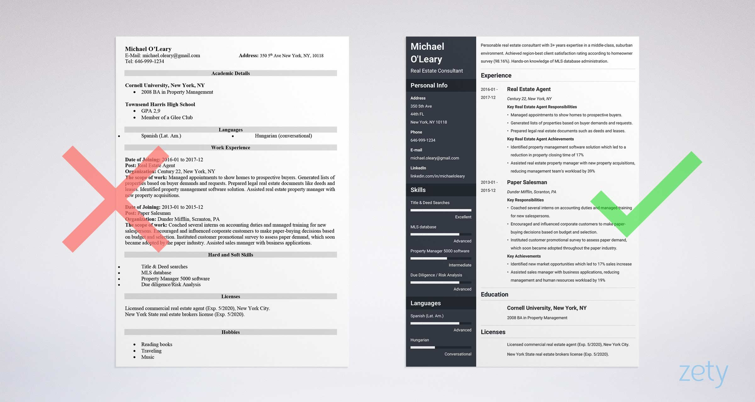 Lovely Real Estate Resume: Sample U0026 Complete Guide [20+ Examples]