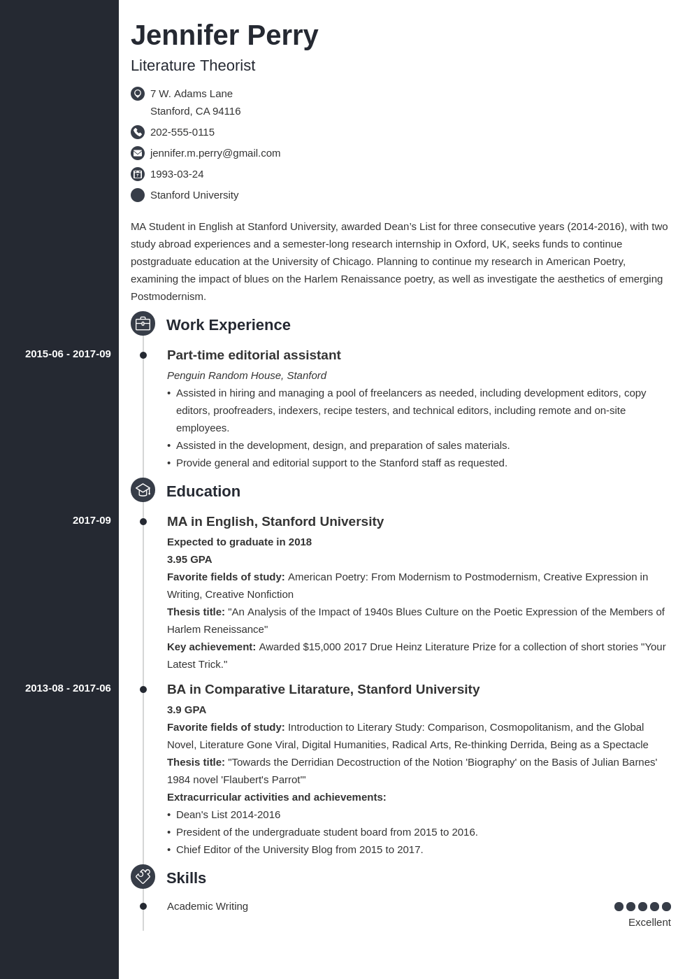 scholarship resume example template concept