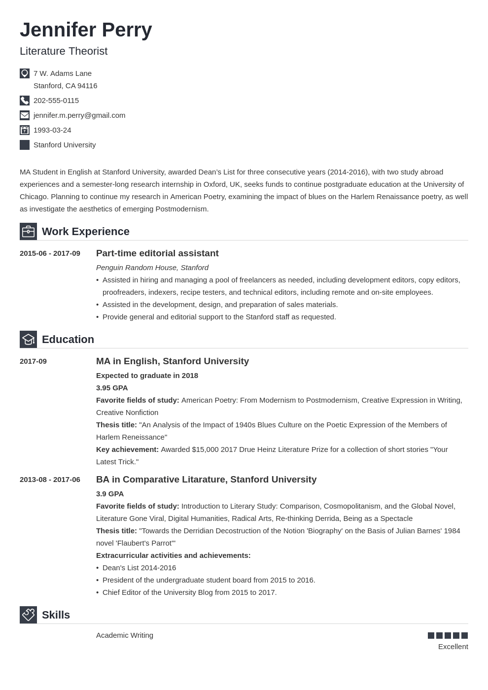 scholarship resume example template iconic