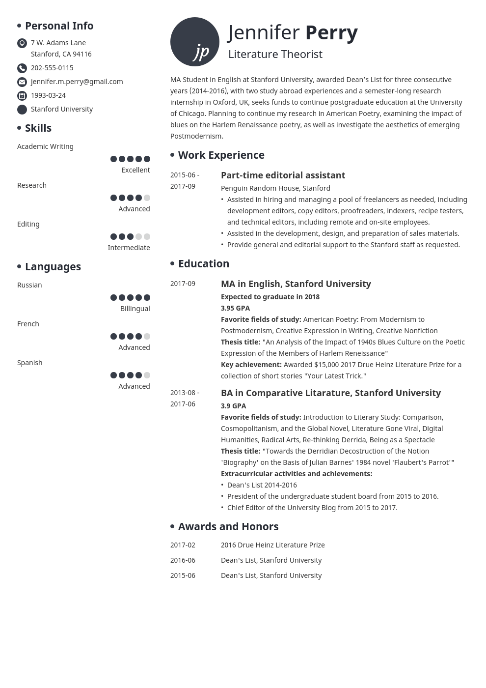 scholarship resume example template initials