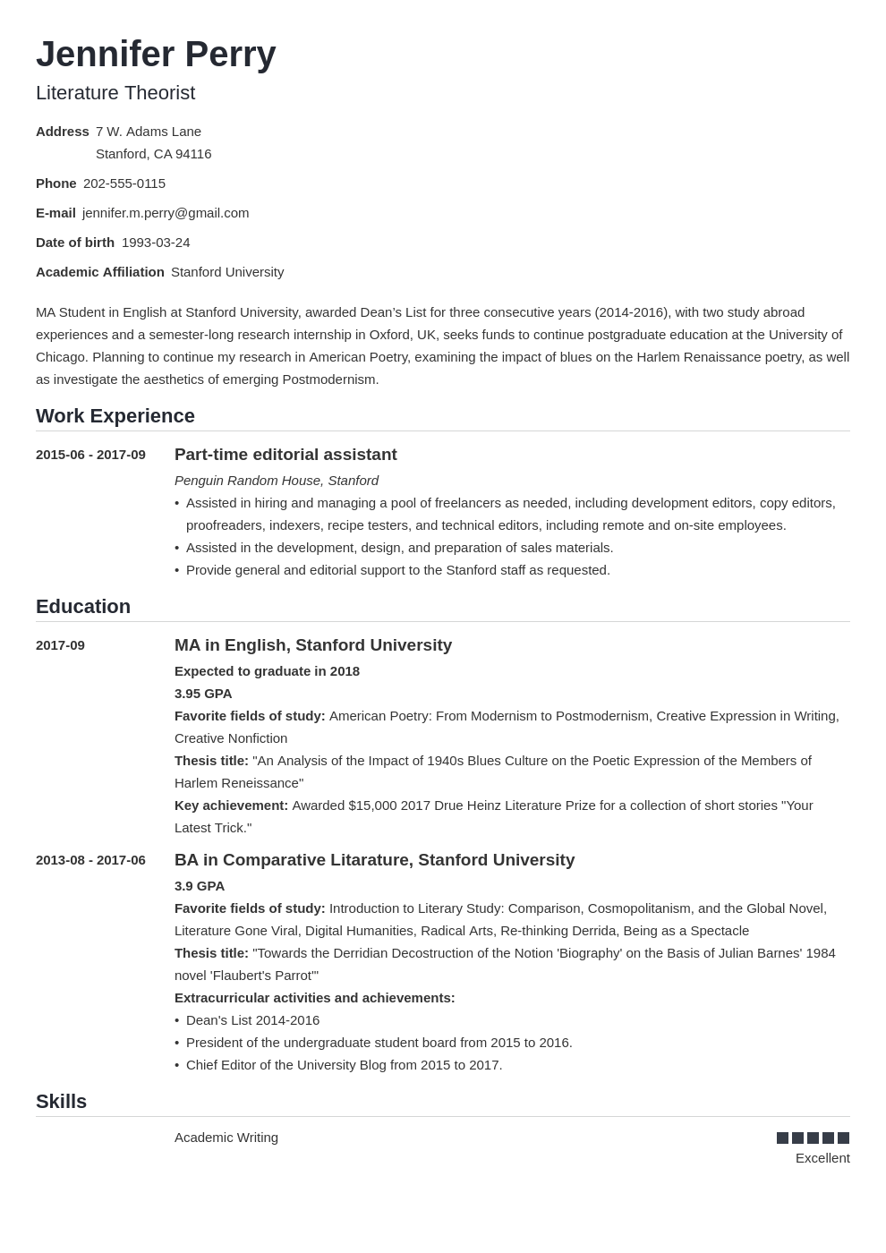 scholarship resume example template nanica