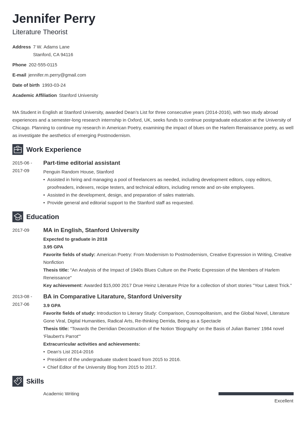 scholarship resume example template newcast