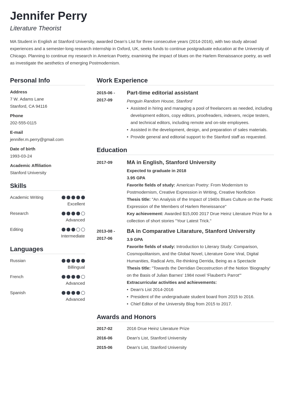 scholarship resume example template simple