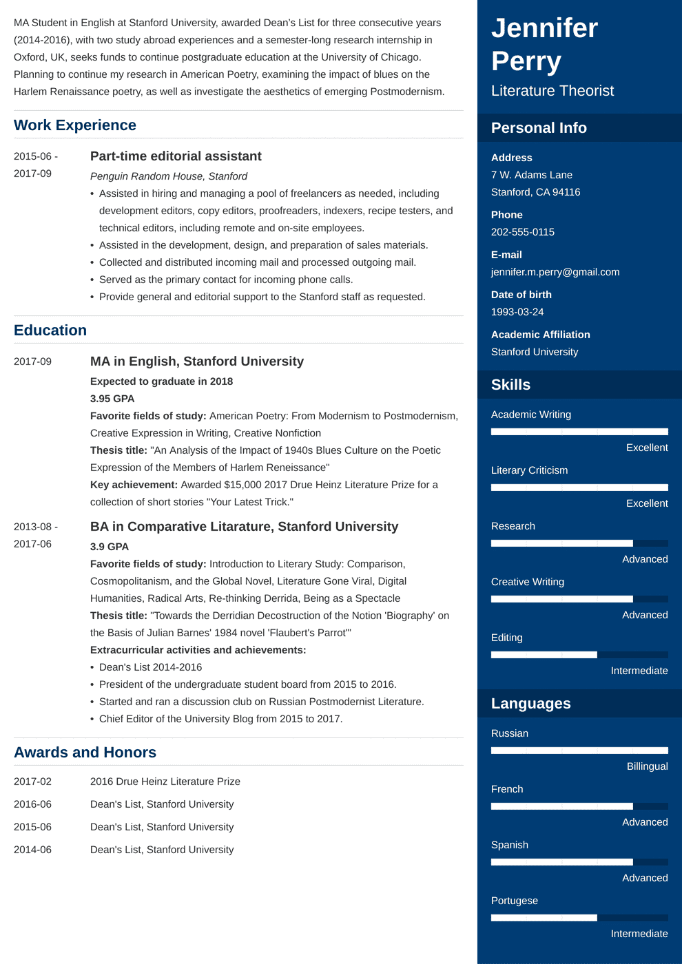 scholarship resume examples template with objective