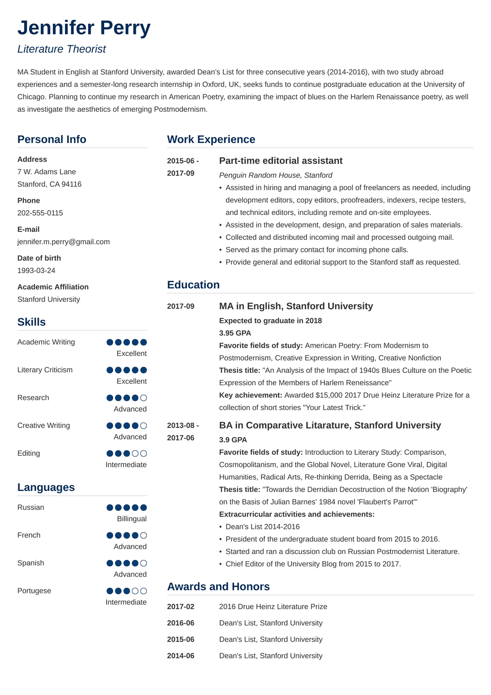 objective for scholarship resume