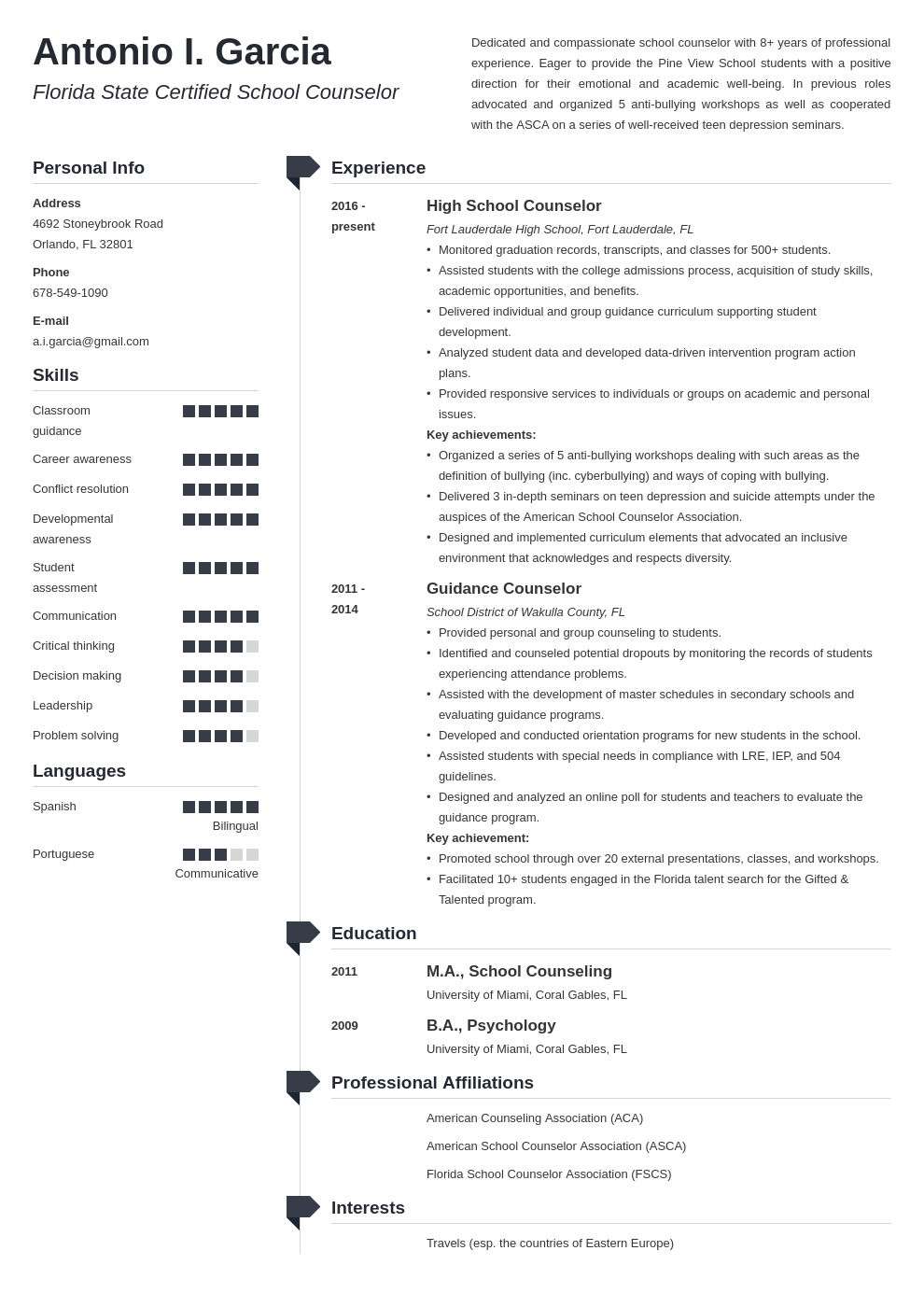 school counselor resume example template muse