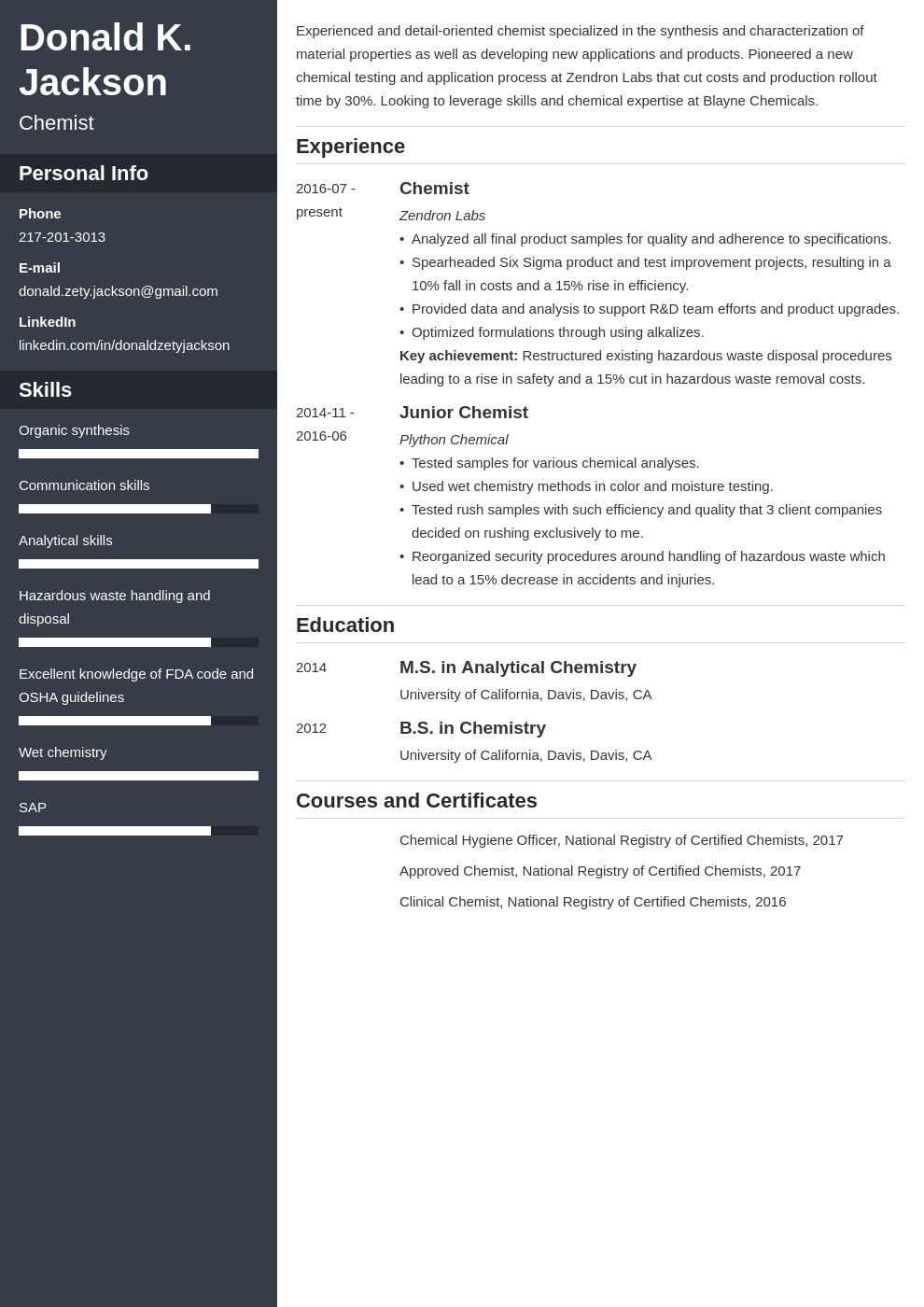science resume example template cascade