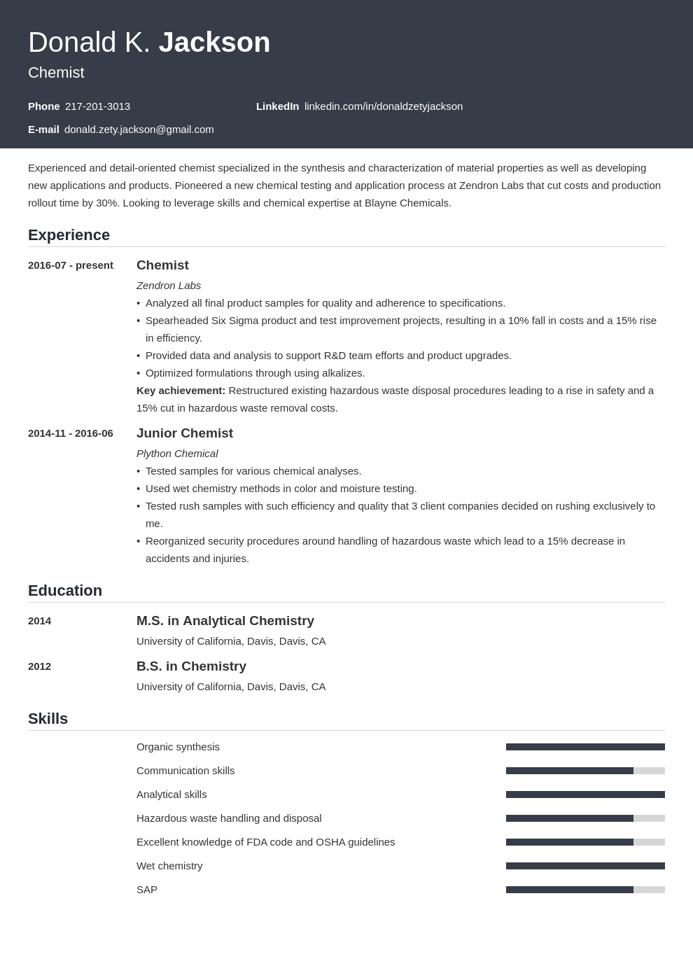science resume example template influx