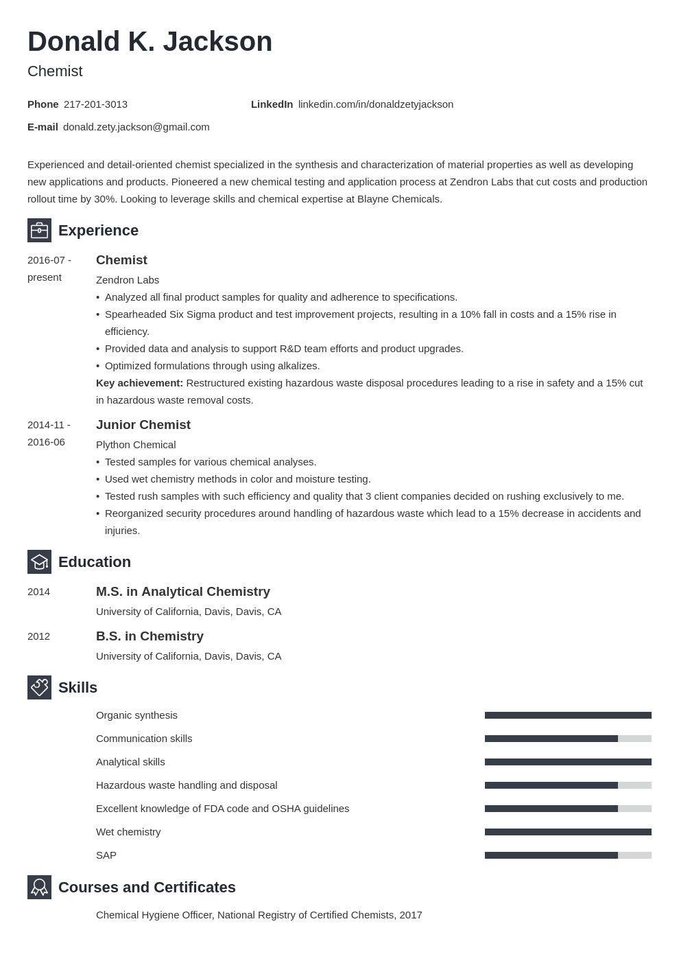 science resume example template newcast