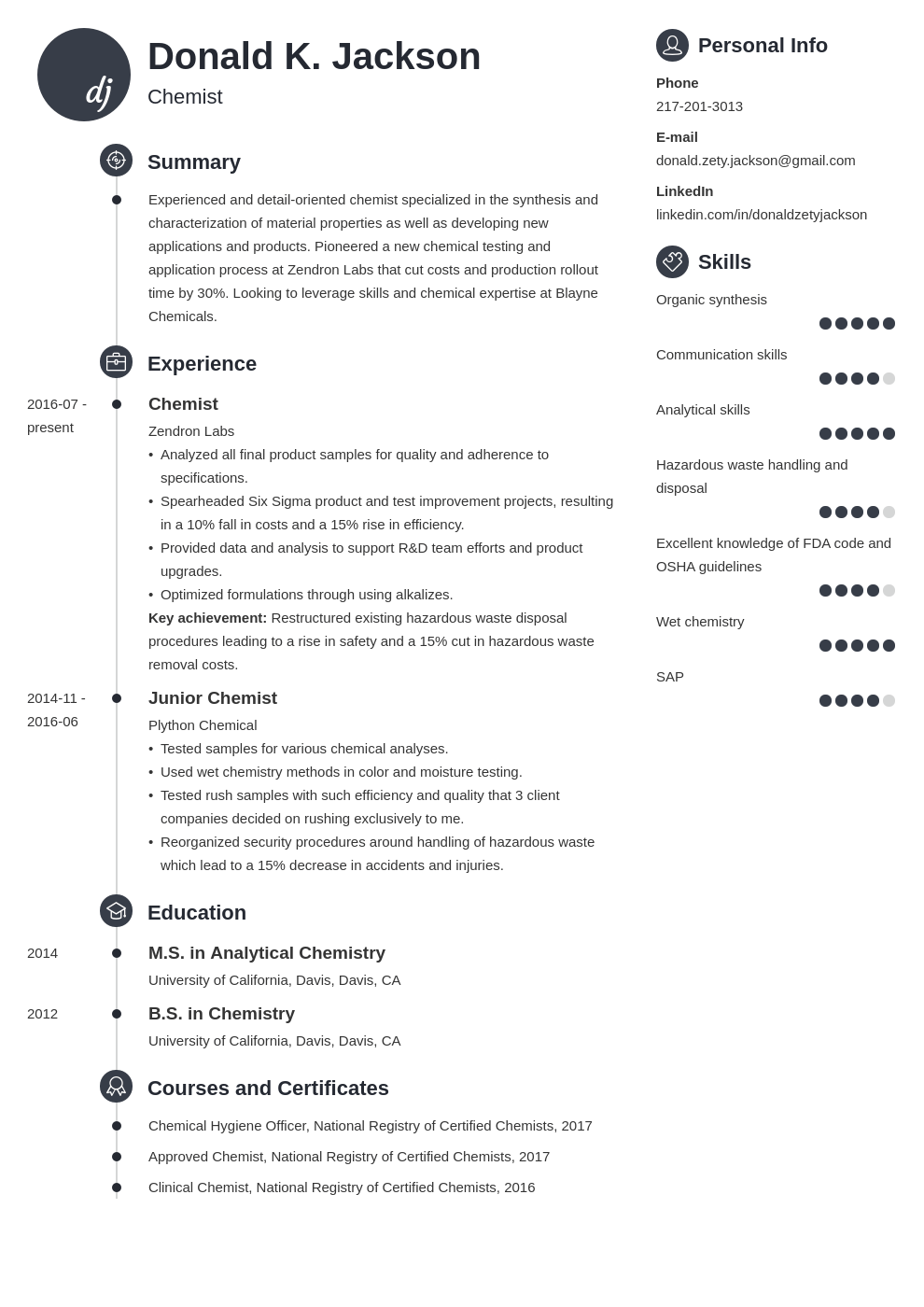 science resume example template primo