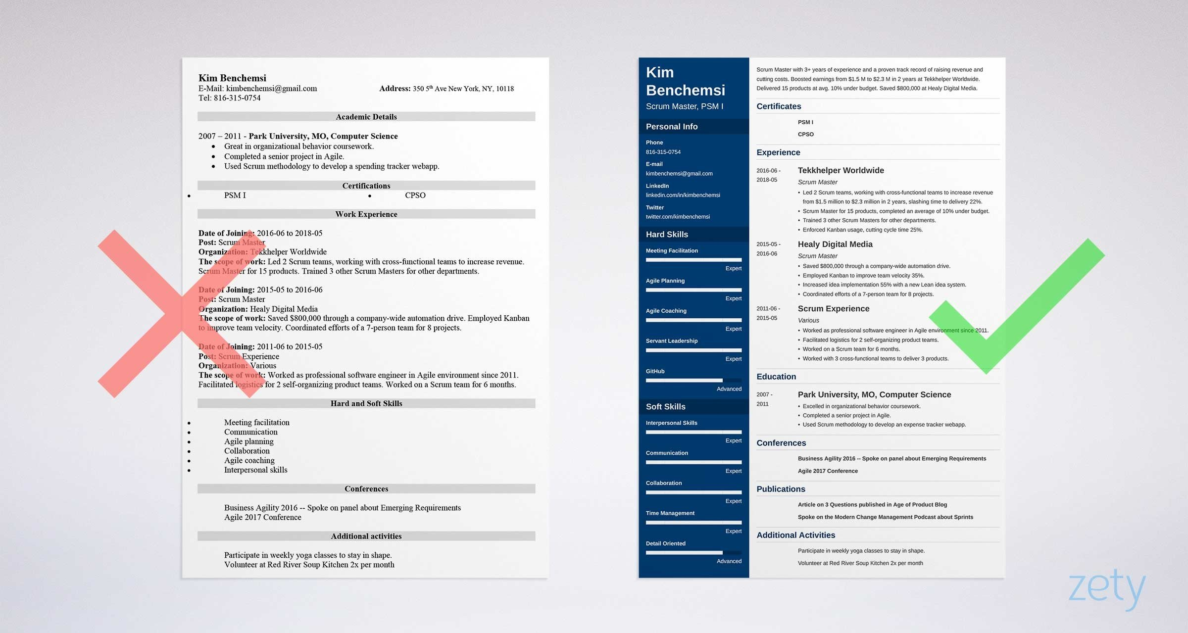 Sample Scrum Master Resume   See +20 Resume Templates And Create Your Resume  Here
