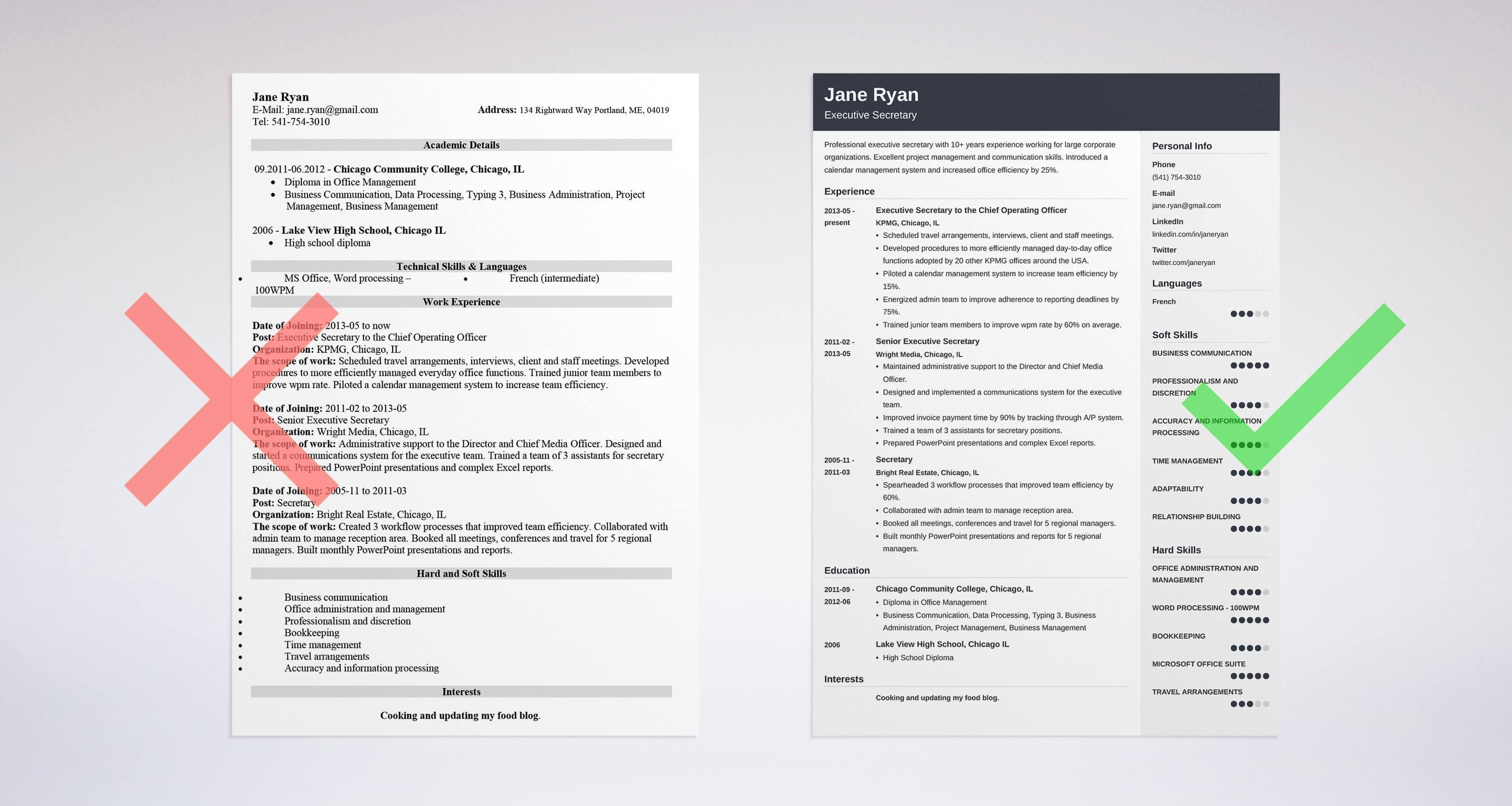 Secretary resume sample complete guide 20 examples spiritdancerdesigns