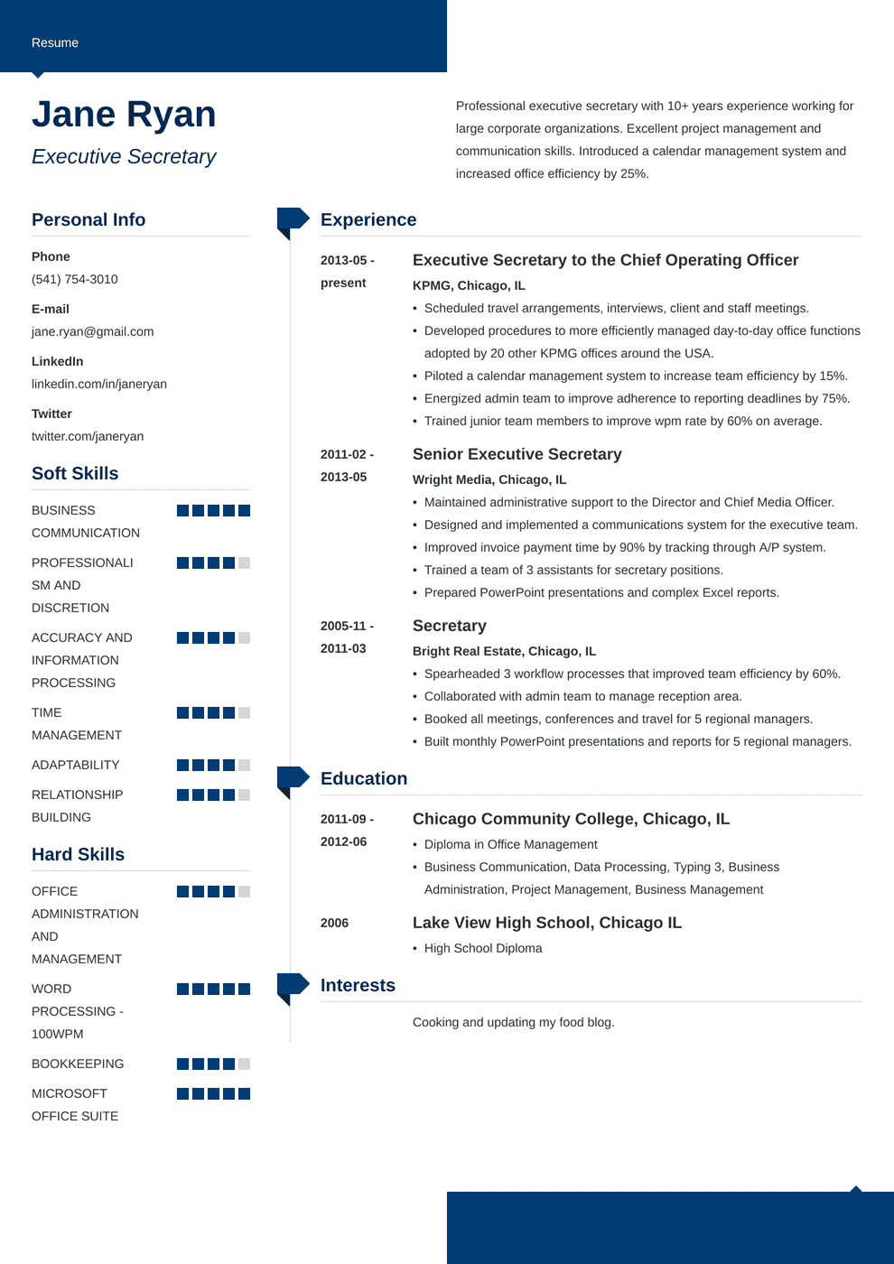 Secretary Resume: Sample & Complete Guide [+20 Examples]