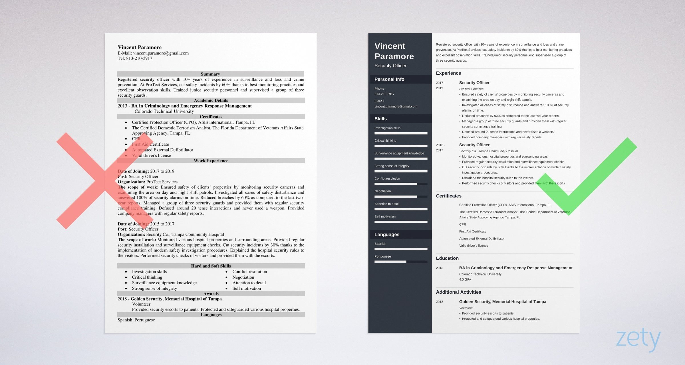 security officer resume templates