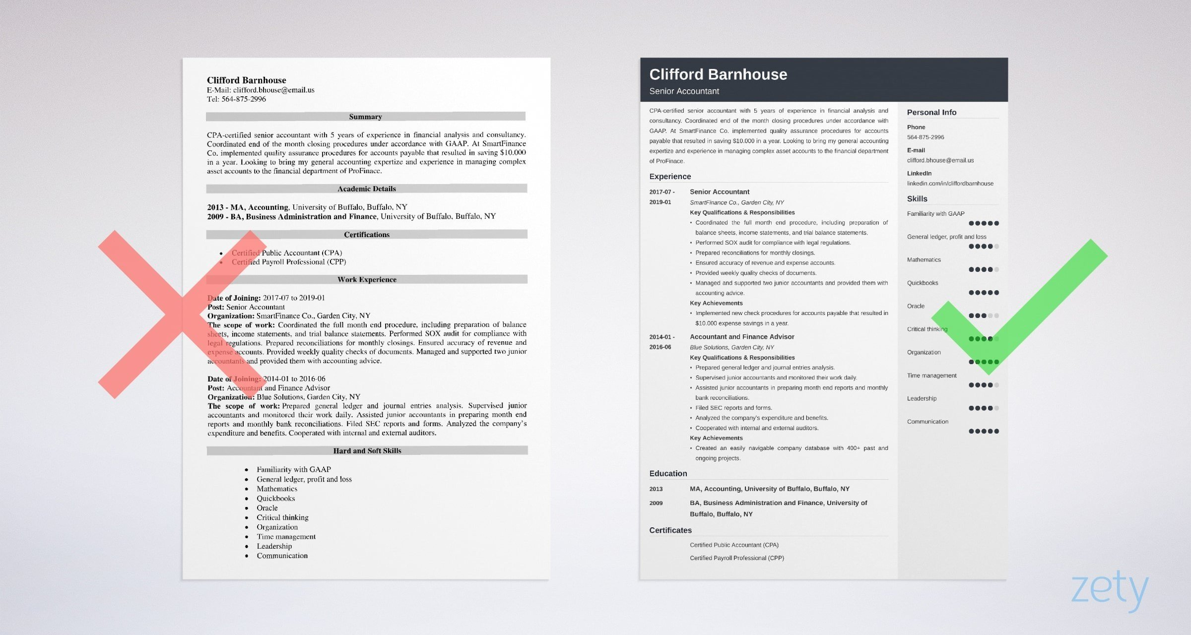 senior accountant resume templates