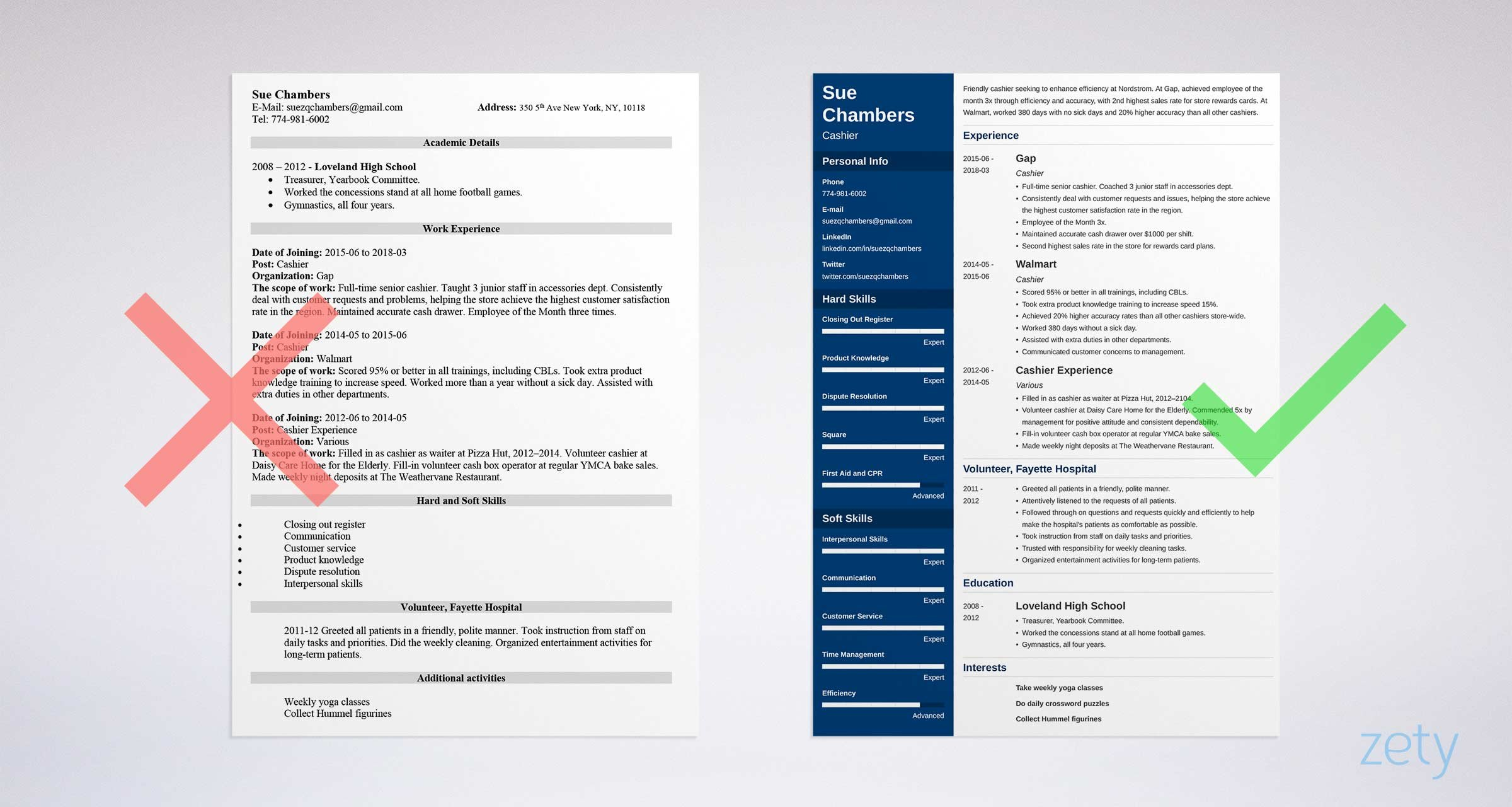 Cashier Resume: Samples and Complete Writing Guide [20+ Examples]