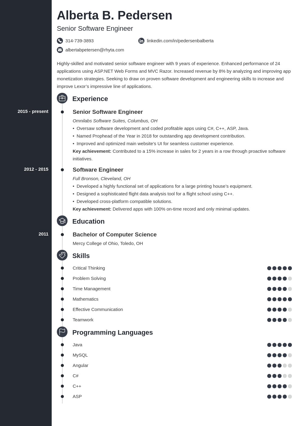 senior software engineer resume examples  guide 25 tips