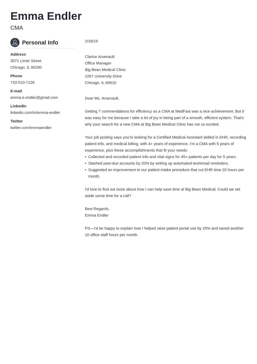 5 Short Cover Letter Examples For