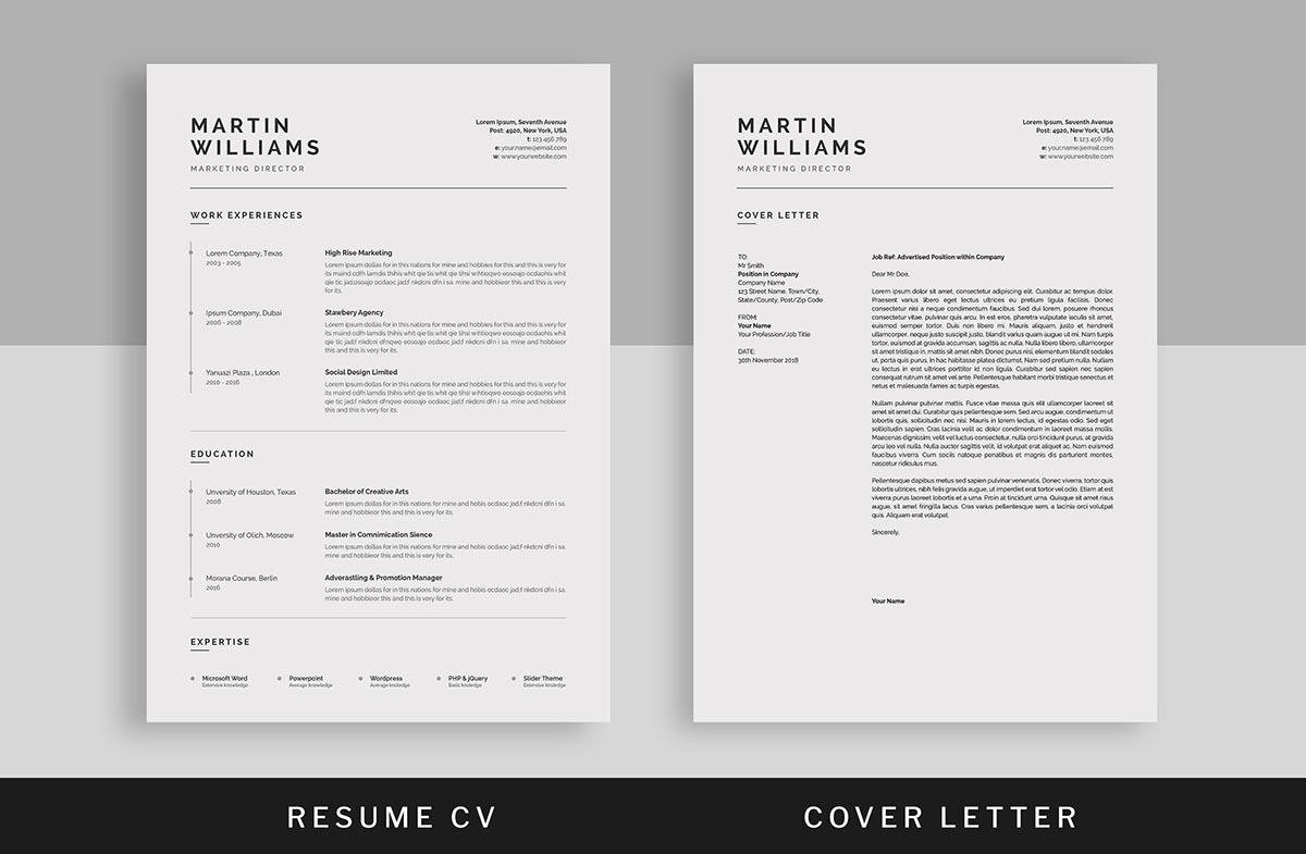 Clean And Simple Resume Templates. U201c
