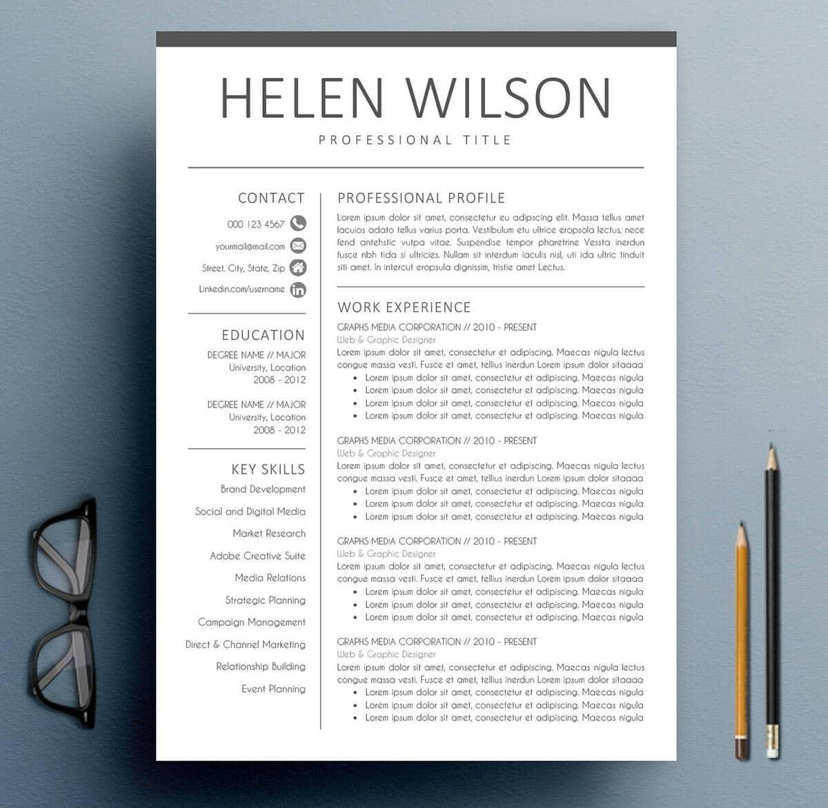 what does a simple resume look like