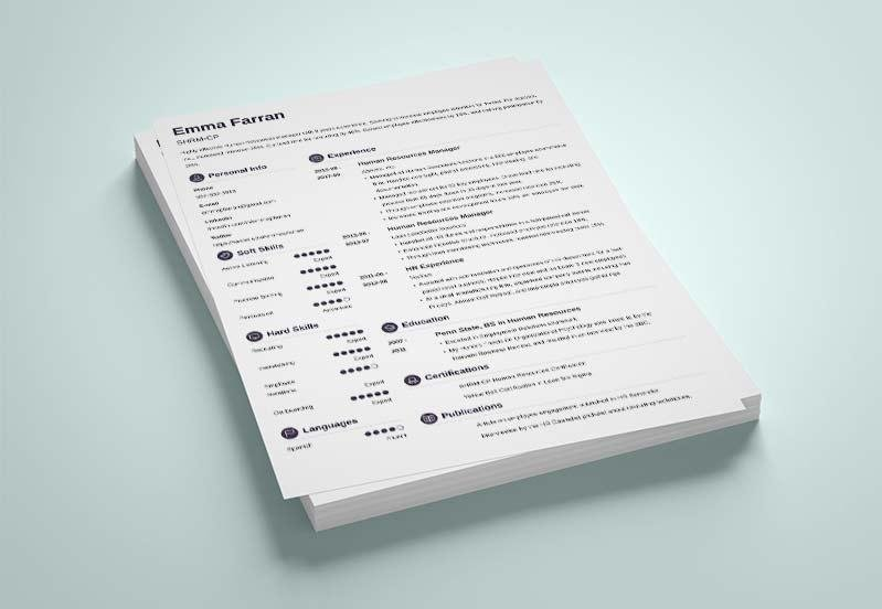 Simple Resume Templates (15 Examples To Download U0026 Use Now)