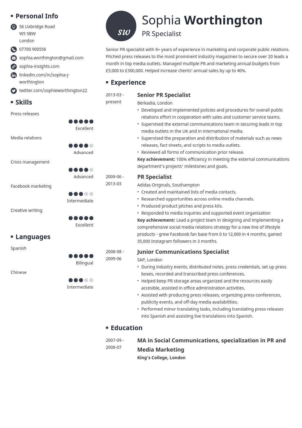 Functional Cv Template from cdn-images.zety.com