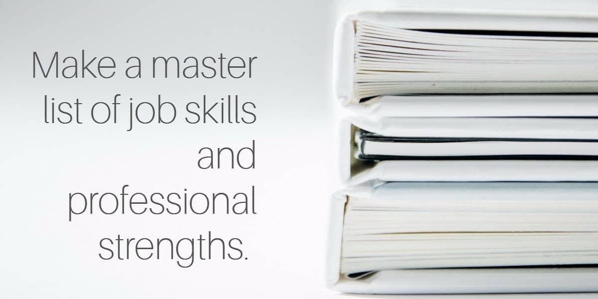 what should be key skills in resume