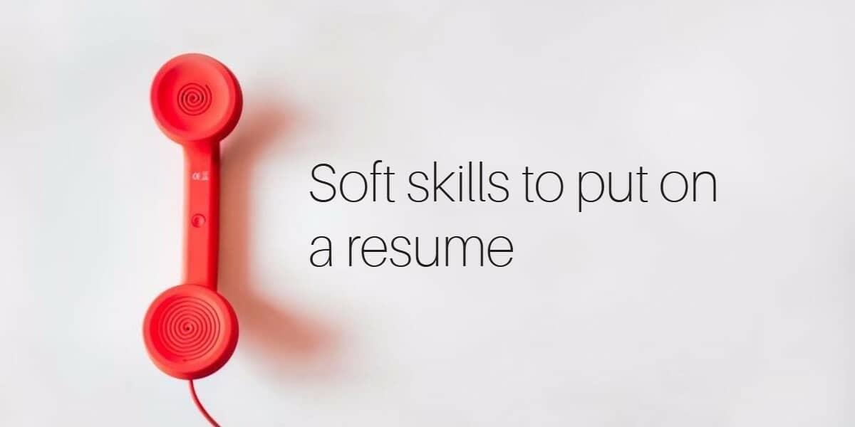 types of skills to put on resume