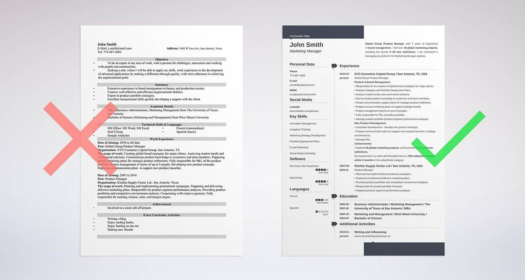 Here's an example of a template from our resume builder that properly  showcases skills on a resume.