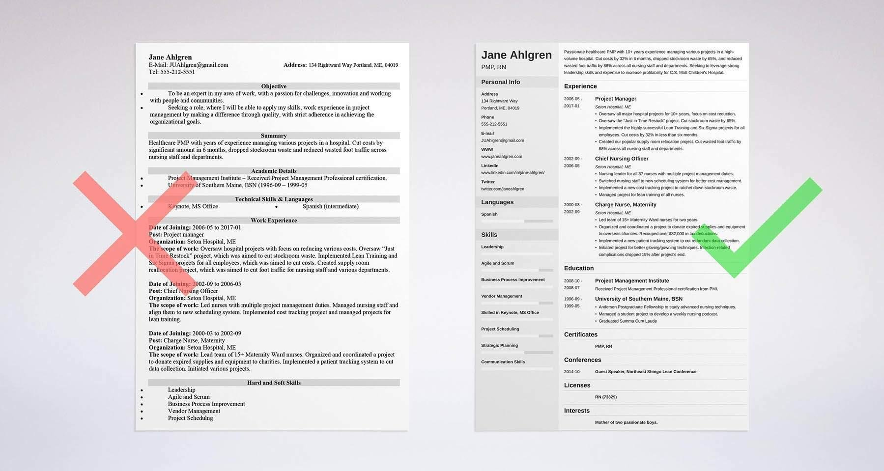 sample resume templates - How To Set Up A Resume