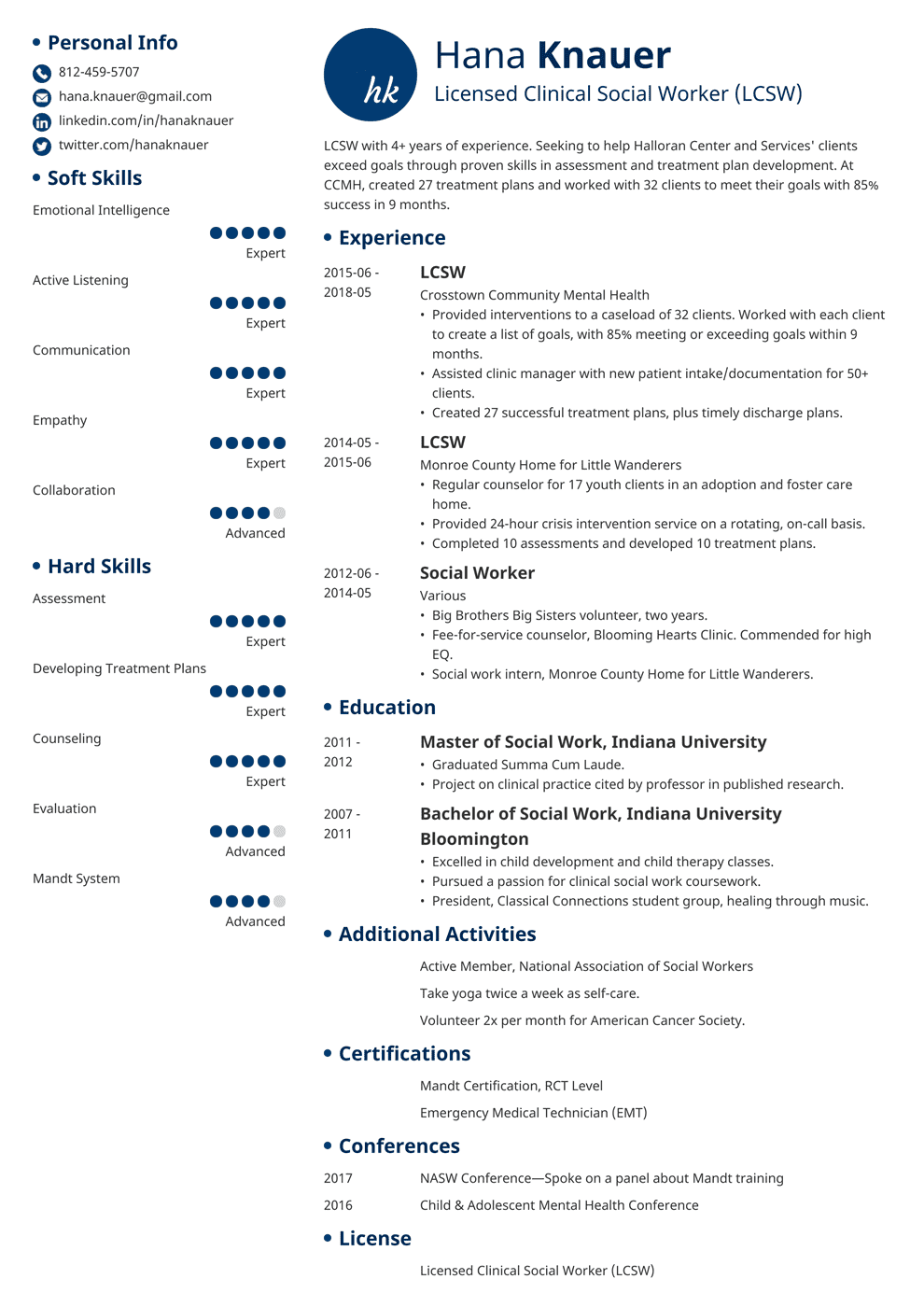 Social Work Resume: Samples and Full Writing Guide [+20 Examples]