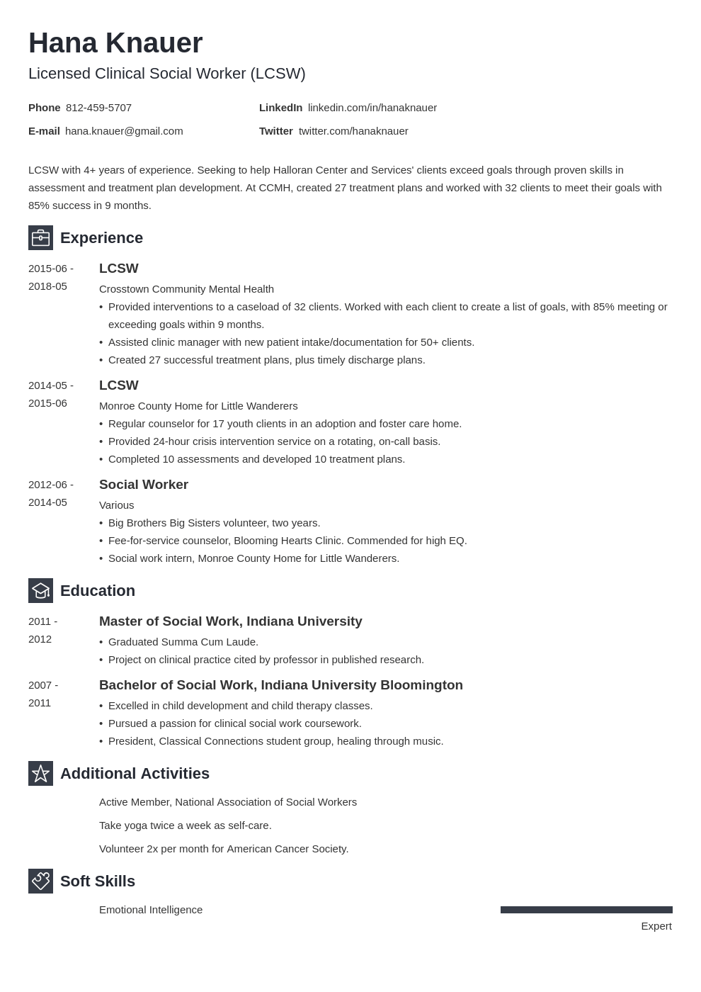 social work resume example template newcast