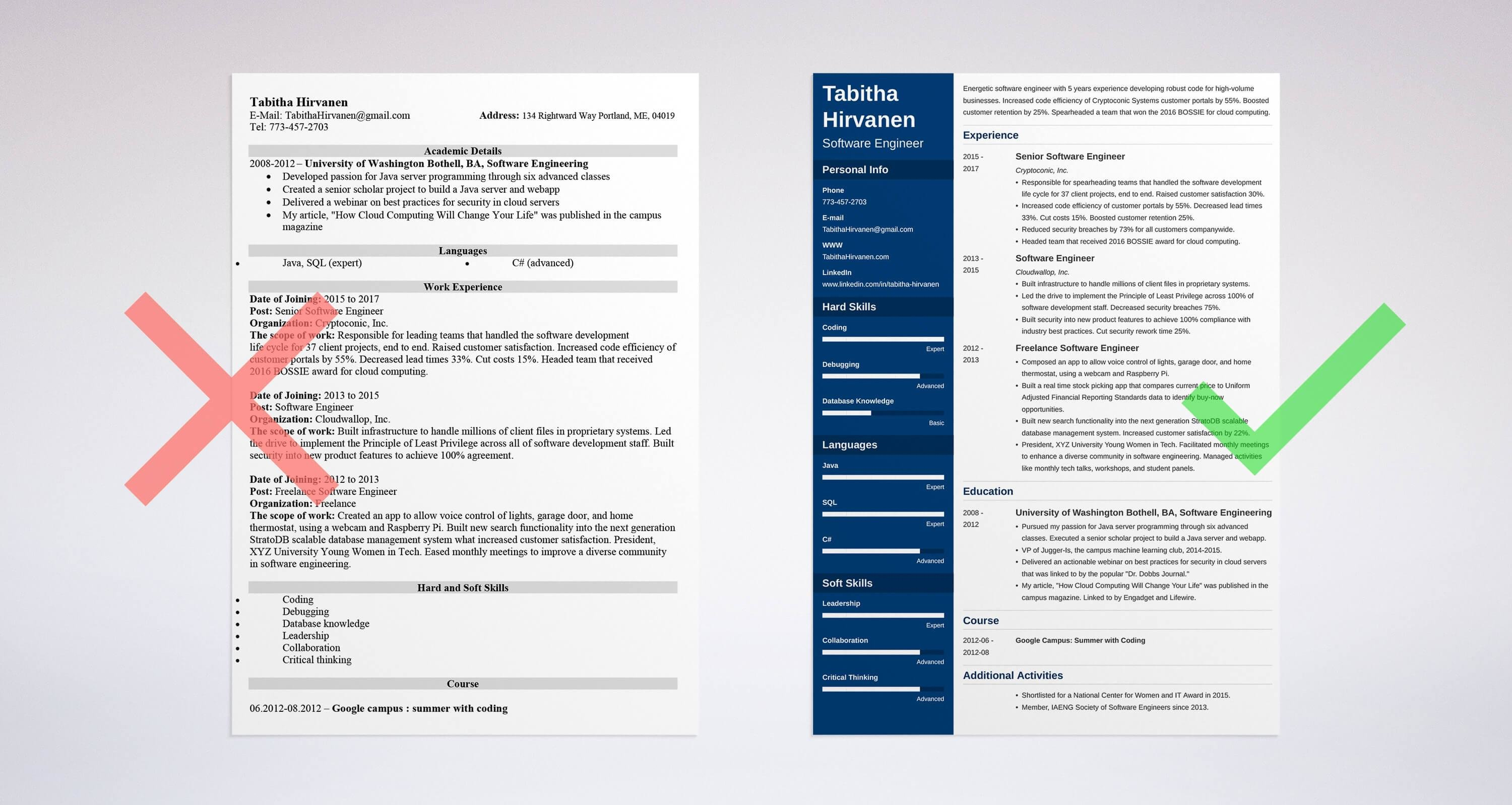 Uptowork  Software Engineering Resume