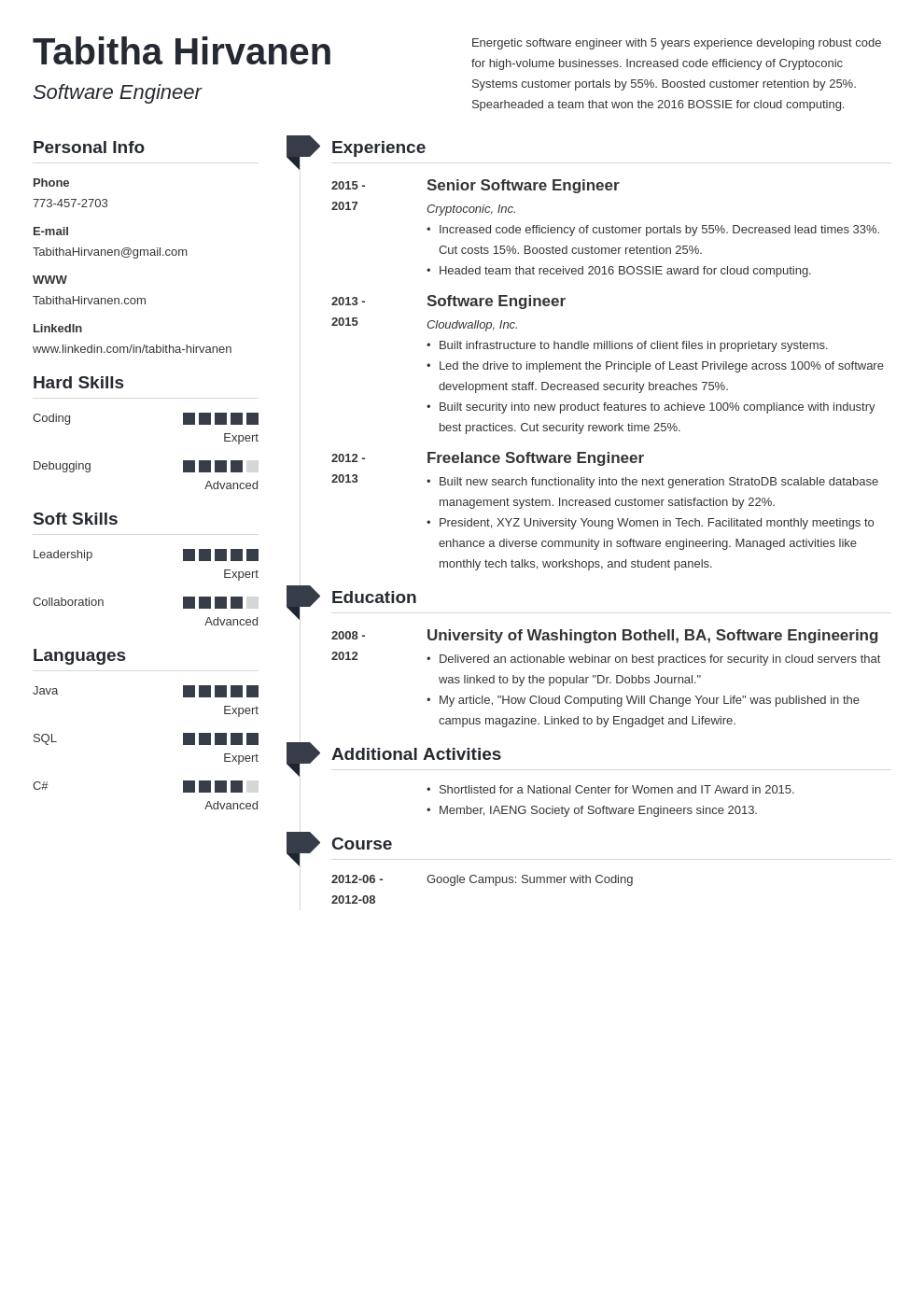 software engineer resume template muse