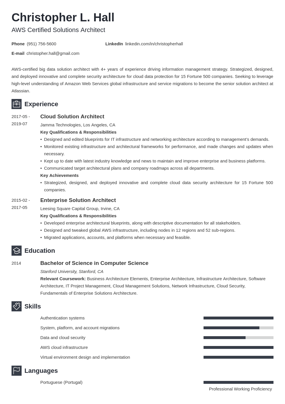 solution architect resume example template newcast