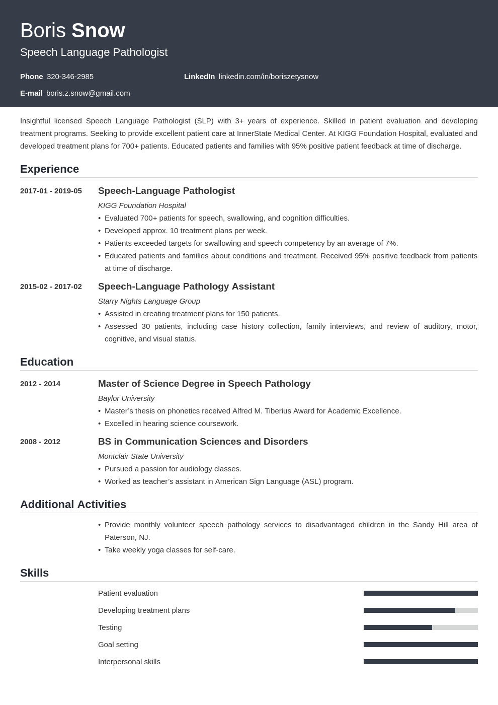 speech pathologist resume example template influx