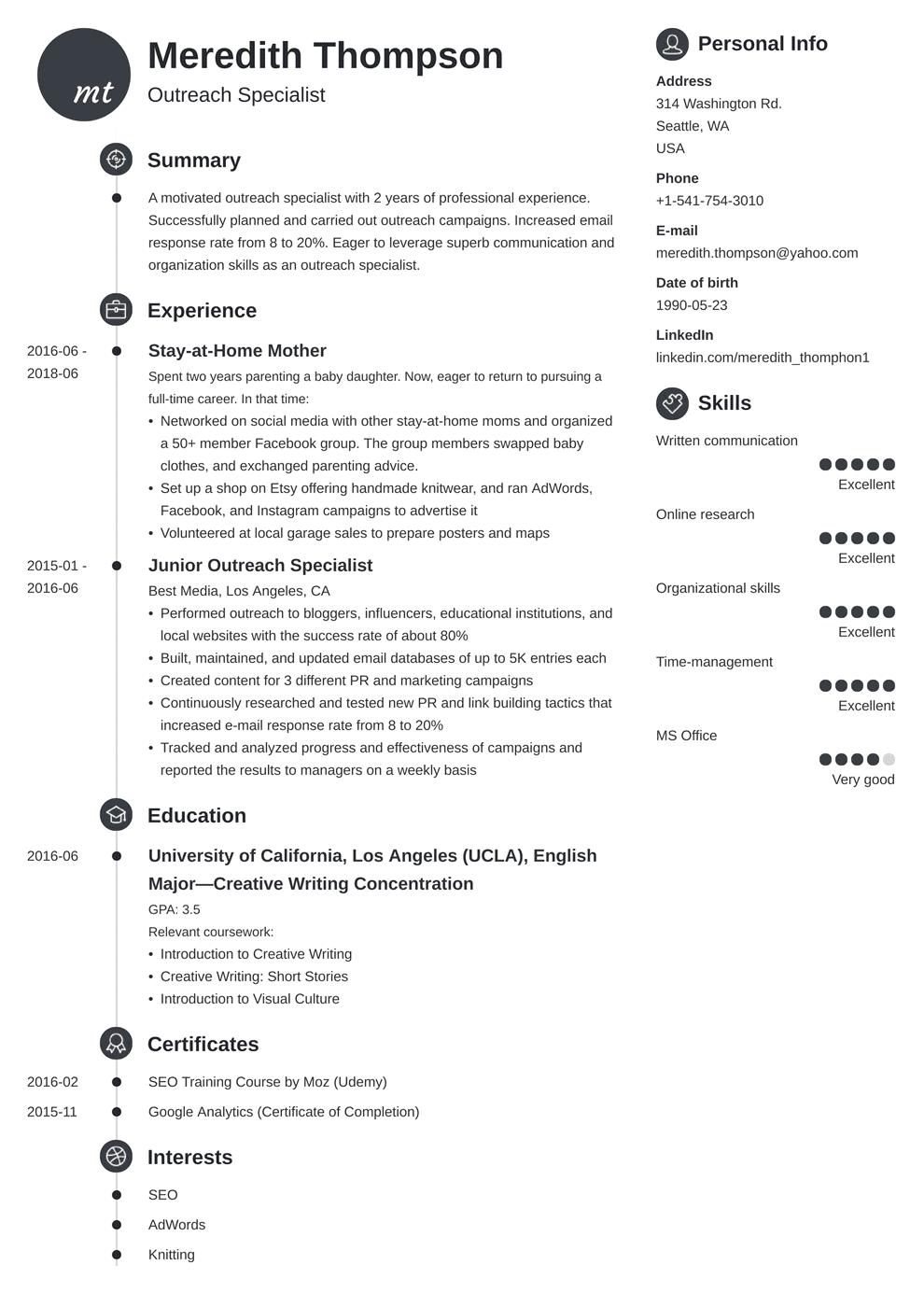 Stay-at-Home Mom Resume: Sample and Writing Guide [20+ Examples]